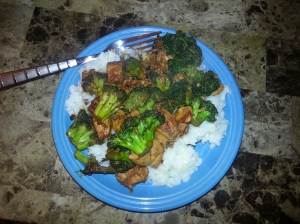 teriyaki and broccoli